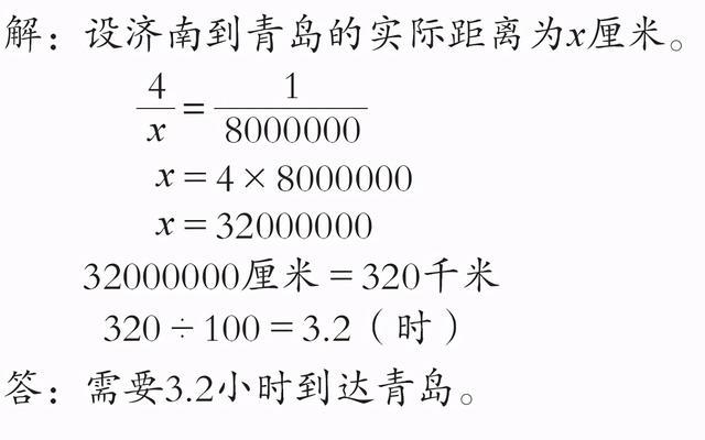 六年级数学下册《根据比例尺求实际距离》教学设计