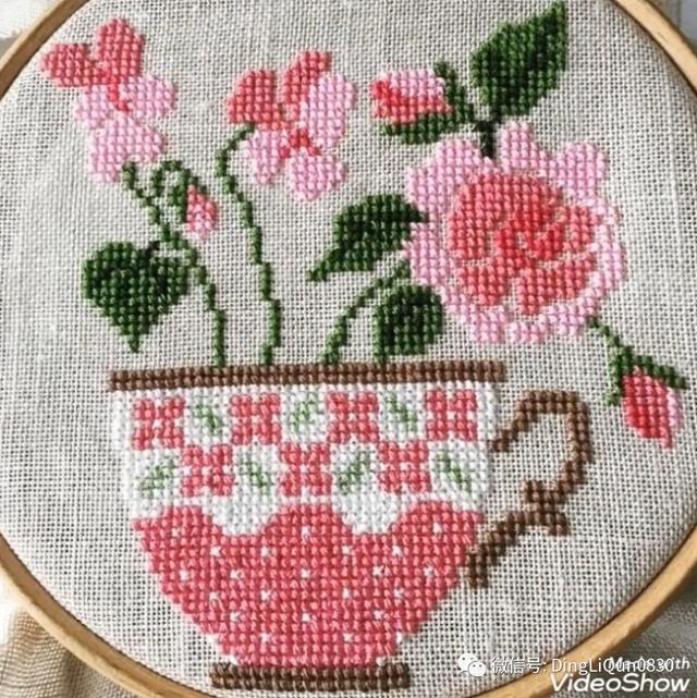 花图片,「十字绣图」70个美丽优雅的十字绣花卉图案