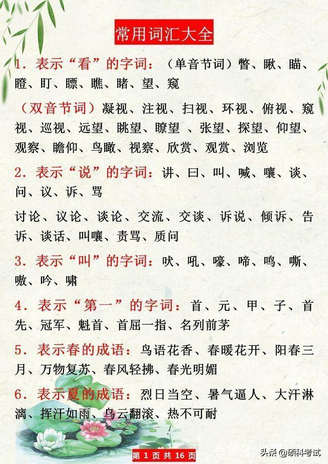 语文作文素材,这份语文写作绝佳好素材,老师拿来备课,家长辅导孩子真心好!