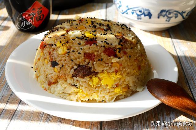 大米的吃法,大米别直接蒸了,打3个鸡蛋,老保姆拿手绝活,过年就要这样吃