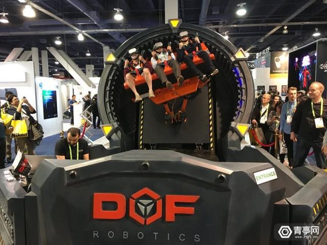 vr过山车,CES2019:6轴机械臂加持,DOF Robotics展示多人VR过山车