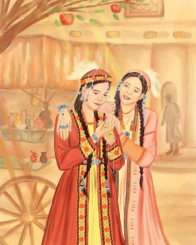 汗汗漫画,《卡通漫画》哈萨克民族风格