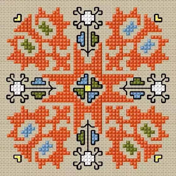 老品种,50款老刺绣图案集锦,总有一个图案是你想看的!实用素材