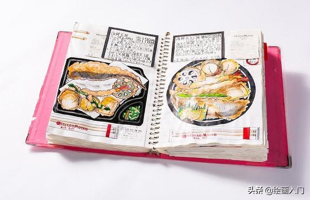 美食字体,持续32年的美食日志:精美插画和详细的文字介绍,令人赞叹