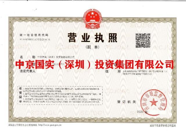 深圳投资公司,中京国实(深圳)投资集团有限公司