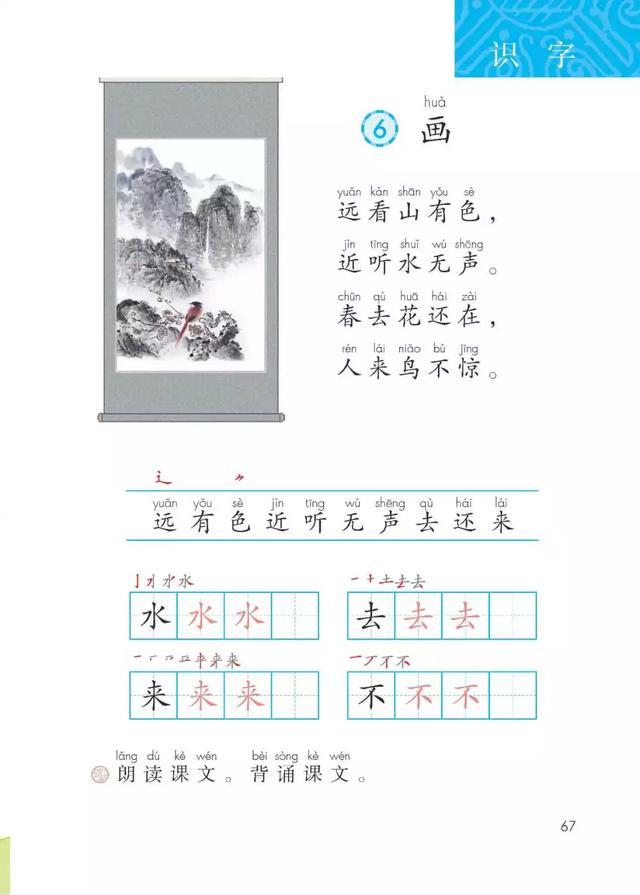 画的解释,部编版一年级上册识字6《画》图文讲解