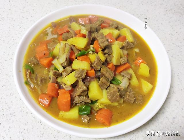 咖喱牛肉土豆的做法,家常版咖喱牛肉做法,零失误好上手,牛肉鲜嫩汤汁香浓,真香!