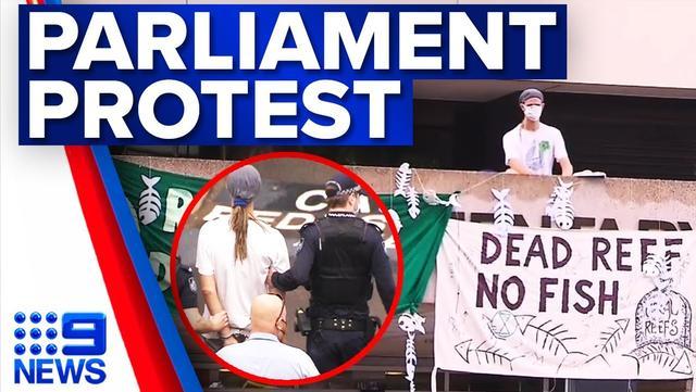 破防线拉横幅花式抗议不断,澳大利亚净零惹争议,内忧外患求贸易