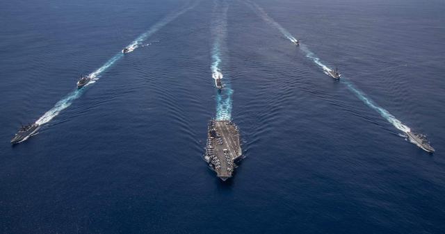 6国海军联演,美国智库提醒拜登不要玩火