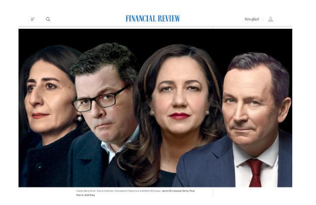AFR评选澳洲十大最有权力者:四大州长排第一 莫里森第二
