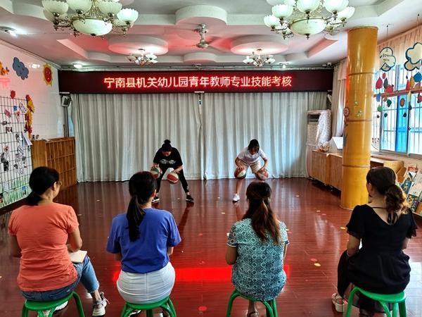 县机关幼儿园开展青年教师技能考核