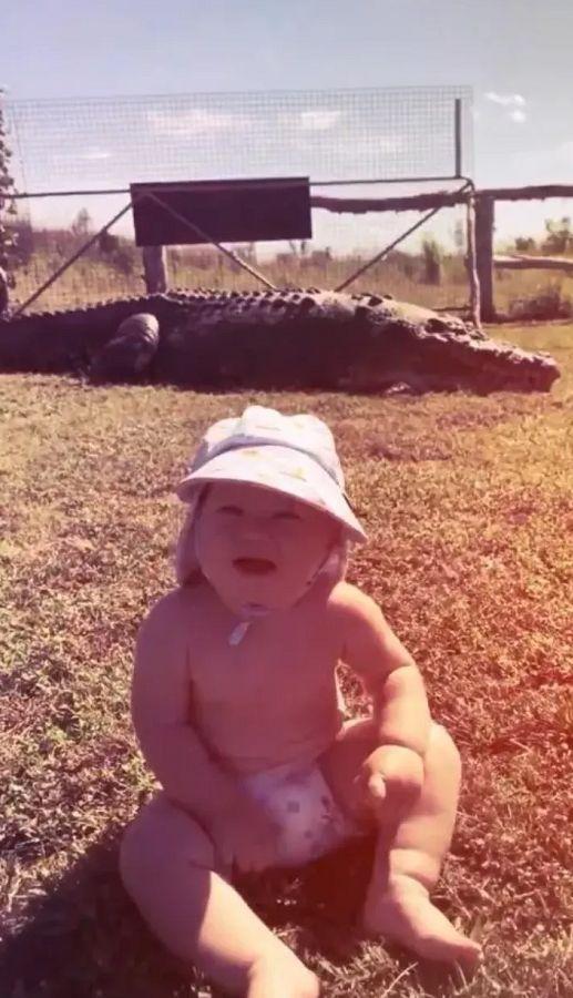 澳洲2岁宝宝徒手抓巨蟒!活生生的!爸爸竟然在旁边鼓励