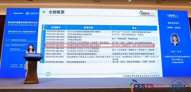 2021服贸会:《跨境贸易数字财税师职业能力要求》正式发布