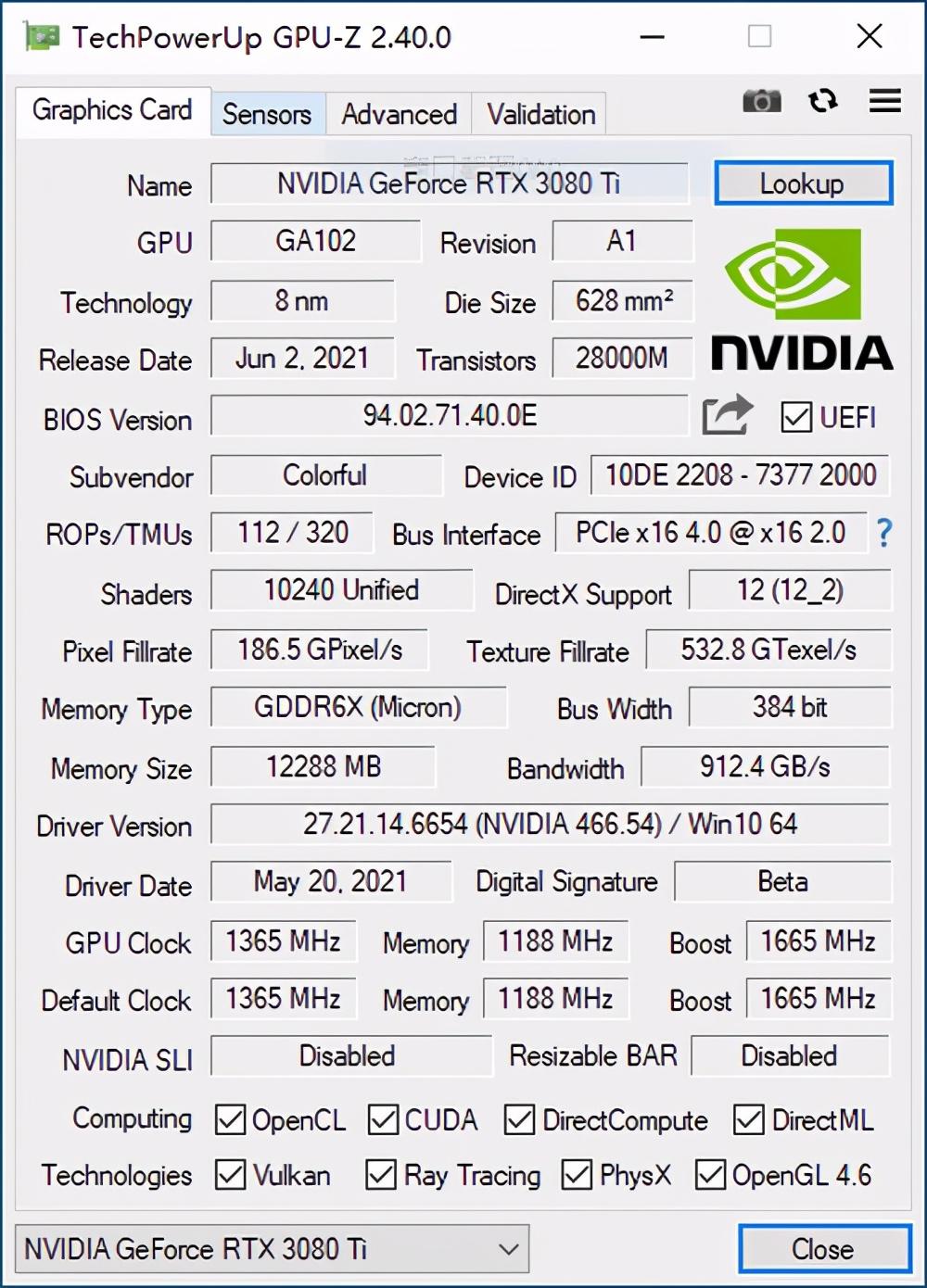 强力8K游戏显卡 七彩虹战斧RTX 3080 Ti游戏显卡评测