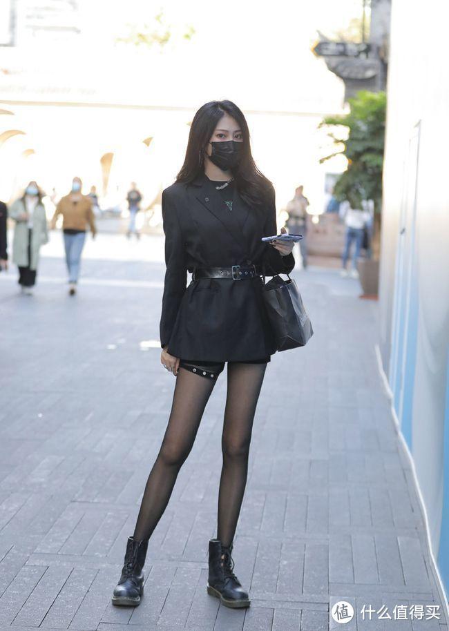 絲襪穿搭:8套秋季穿搭,西裝配絲襪是多麼神奇的組合 形象穿搭 第8張