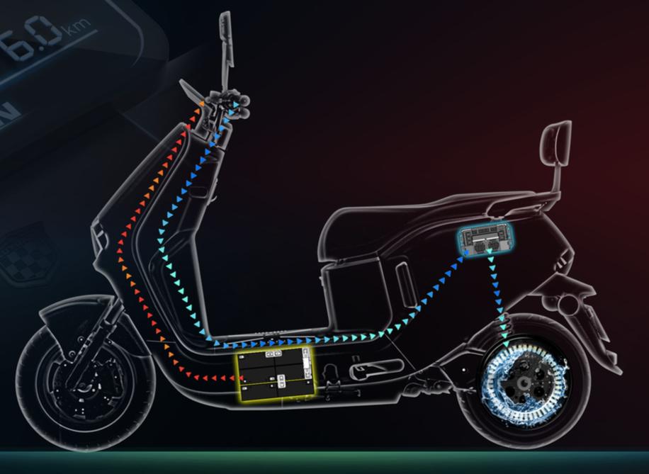 绿源液冷超续航技术:仅用一组72V23ah电池,就能持久续航100公里