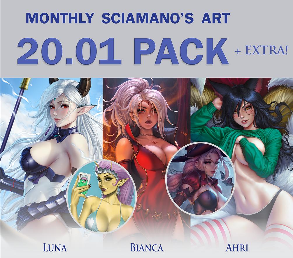 画师(Sciamano240)2020.1-2月插画作品