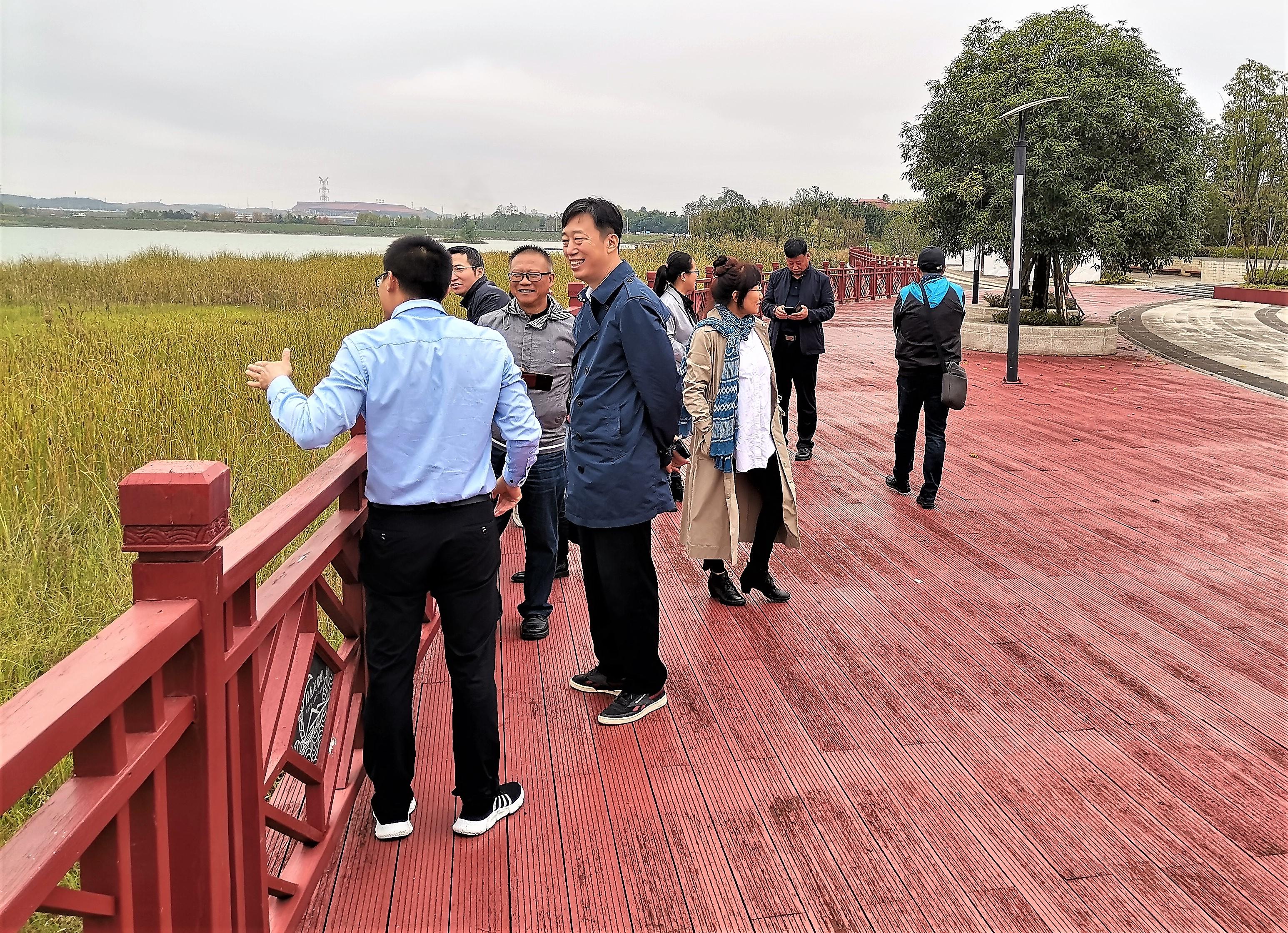 天津市政协课题组到中交四公局贵安项目调研