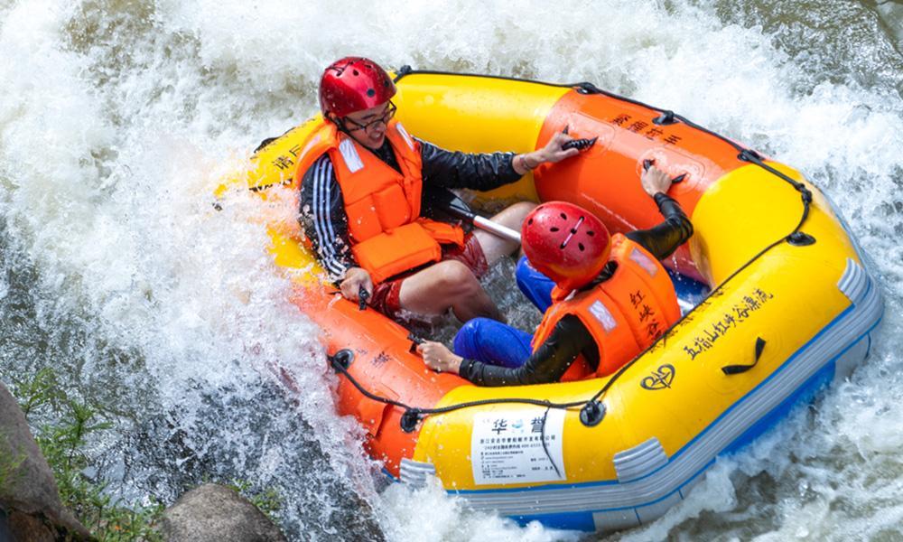 【代金券可抵40元】五指山红峡谷漂流成人票1张!夏季约上好友一起来清爽激情一下吧,打水仗,比速度,斗胆量!